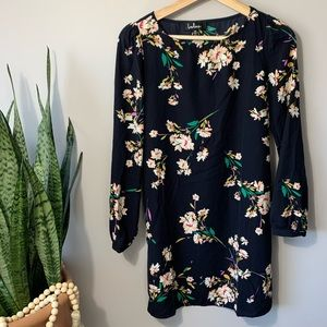Lulus Herbaceous Babe Navy Floral Dress